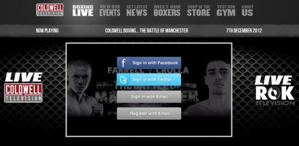 coldwell boxing tv