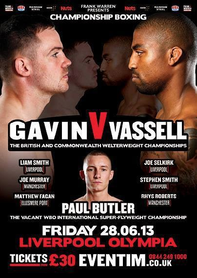 Frankie Gavin v Denton Vassell fight poster