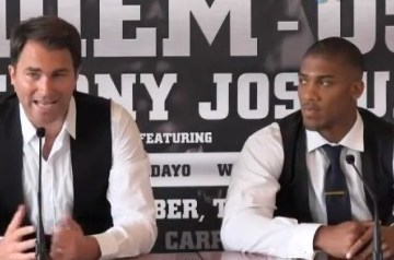 anthony joshua turns pro press conference video