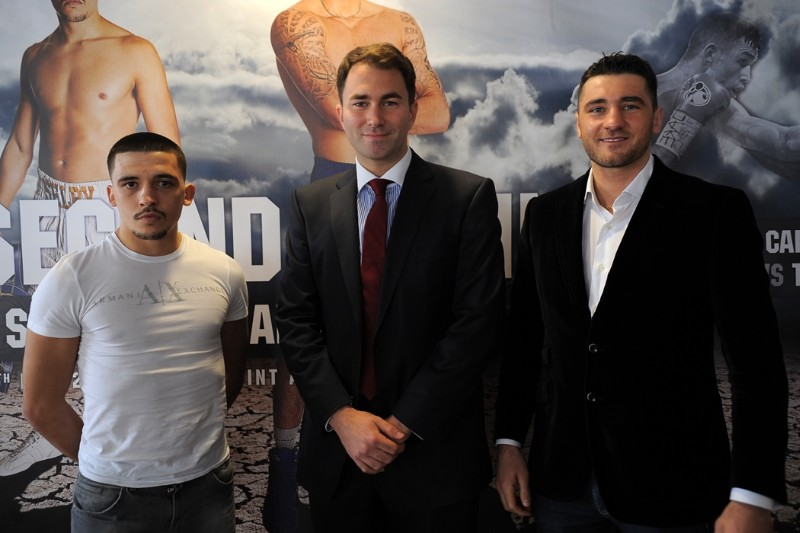 Lee Selby, Eddie Hearn and Nathan Cleverly