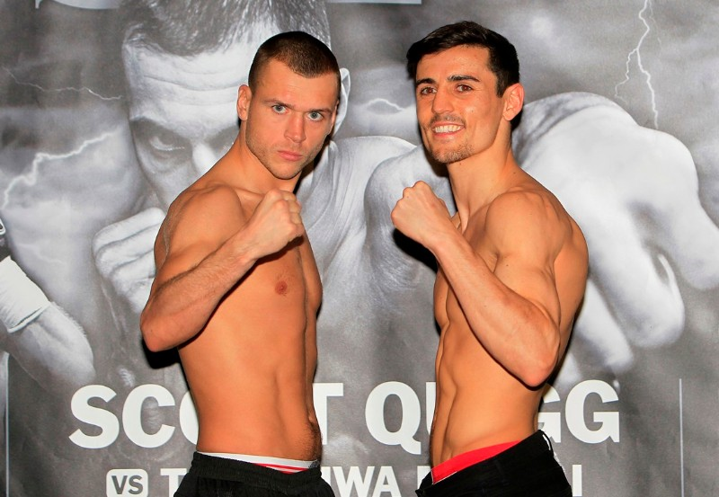 RISE UP PROMOTION WEIGH IN MANCHESTER CENTRAL,MANCHESTER PIC;LAWRENCE LUSTIG WBO INTER-CONTINENTAL LIGHTWEIGHT TITLE ANTHONY CROLLA AND JOHN MURRAY WEIGHS IN