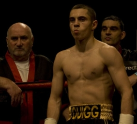 Brian Hughes with Scott Quigg and Mike Jackson