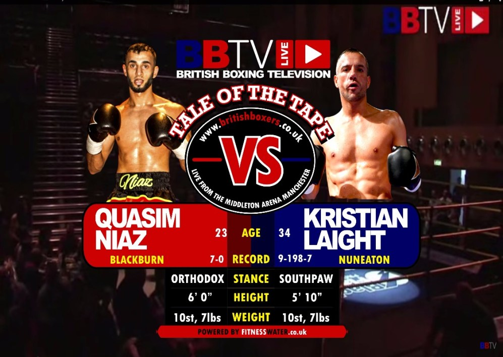 quasim niaz vs kristian laight