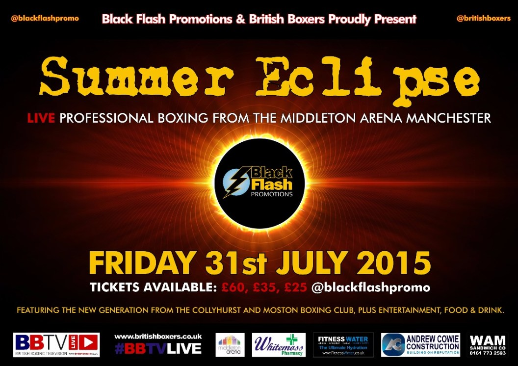 black flash promotions boxing summer eclipse