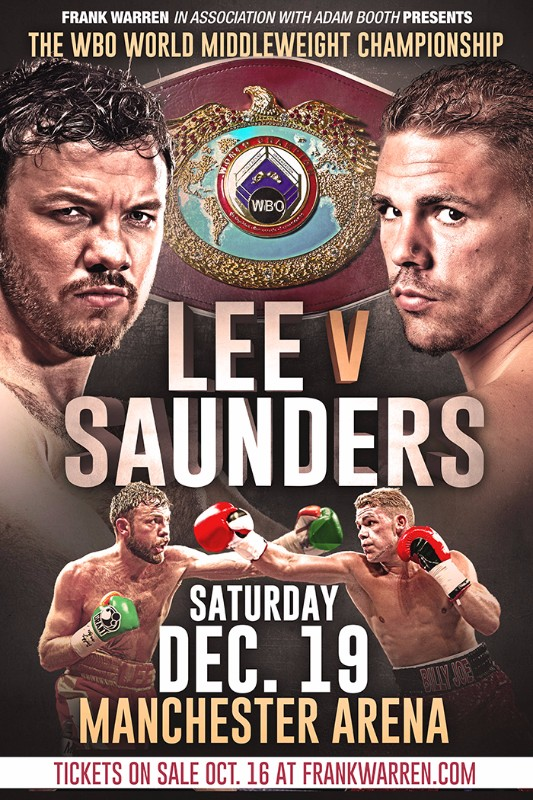 saunders vs lee boxing manchester december