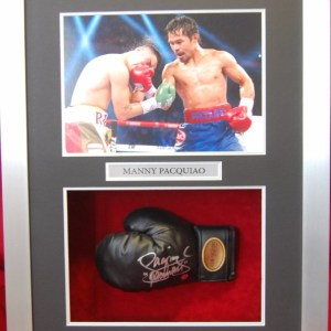 Signed framed boxing items
