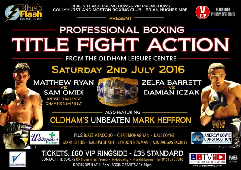 OLDHAM FIGHT POSTER
