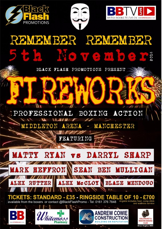 FIGHT POSTER FIREWORKS