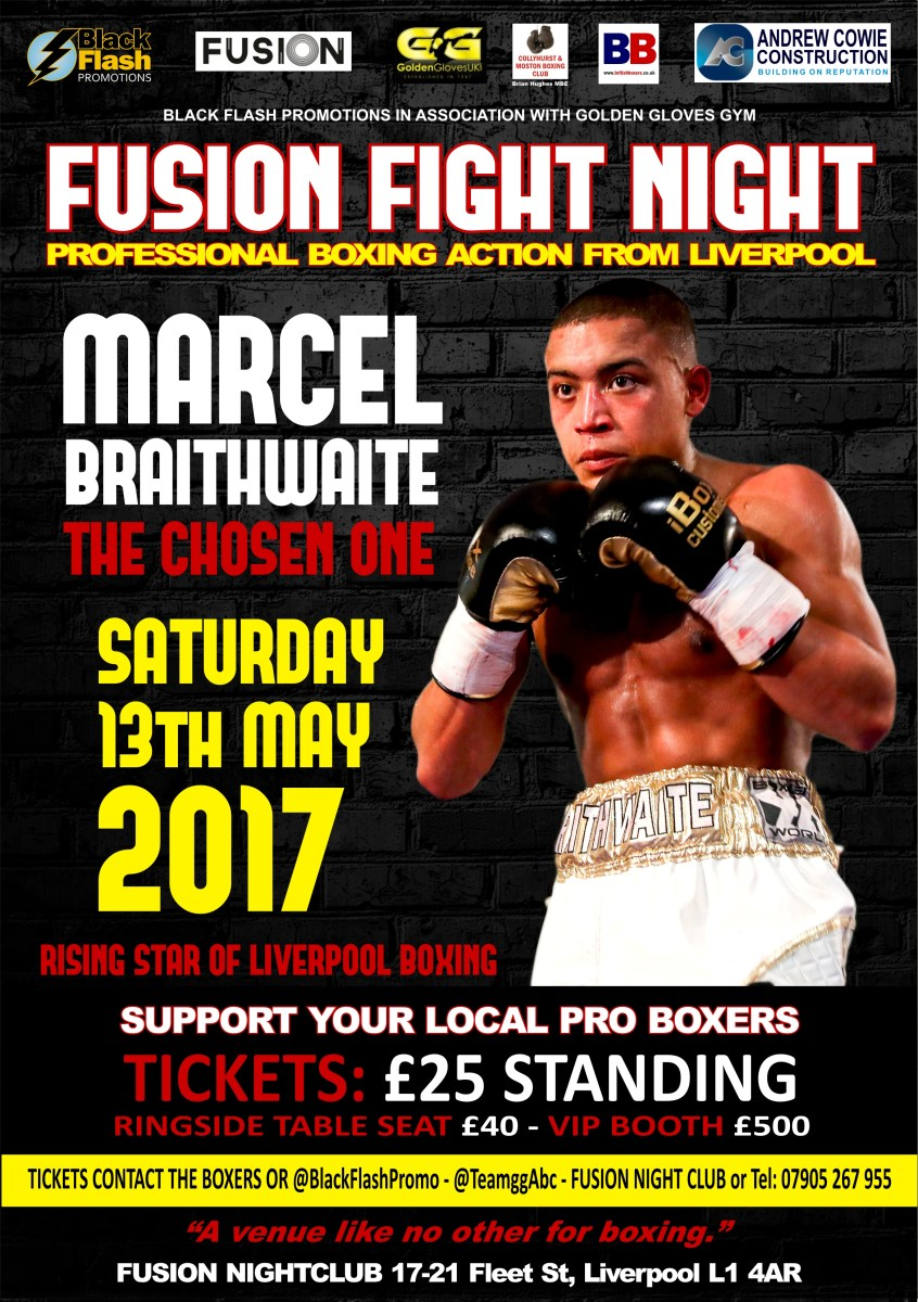 Liverpool prospects Braithwaite, Daord, Gallagher and Ball fight on Fusion show May 13th