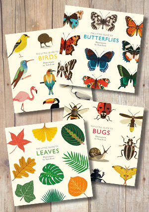 The Little Guide to Butterflies, Birds, Bugs and Leaves (Set of 4)