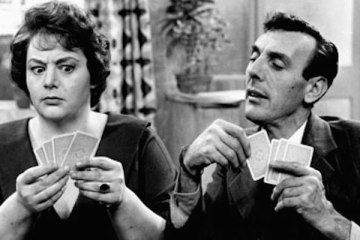 eric sykes and hattie jacques play brother and sister in sykes and a..
