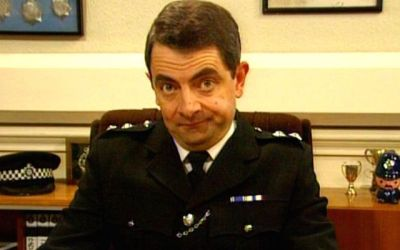 Rowan Atkinson is Inspector Raymond Fowler in the BBC comedy series the thin blue line