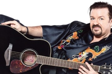 publicity shot for Ricky Gervais' film David Brent Life On The Road