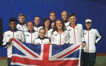 GB squad european deaf tennis championships