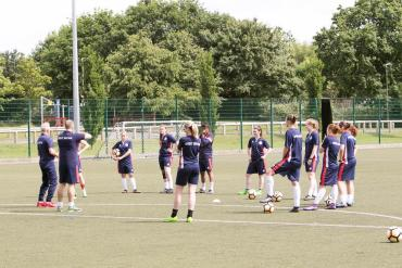 Great Britain women's deaf football squad train in Worcester