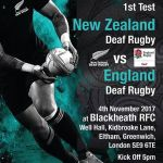 England vs New Zealand Rugby poster