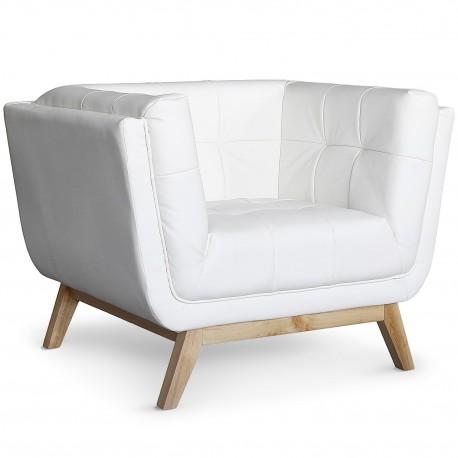 fauteuil scandinave design blanc