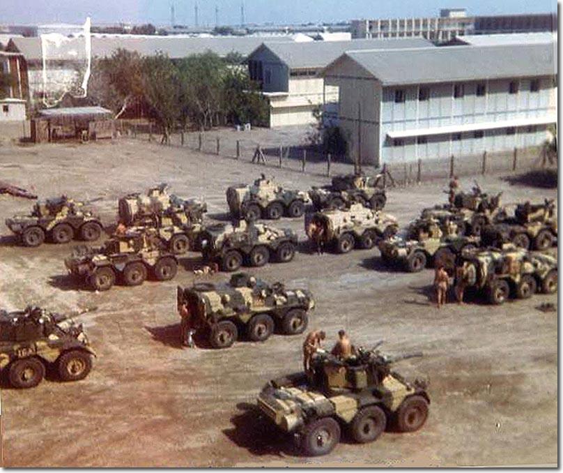 British Hussars in Aden 1967