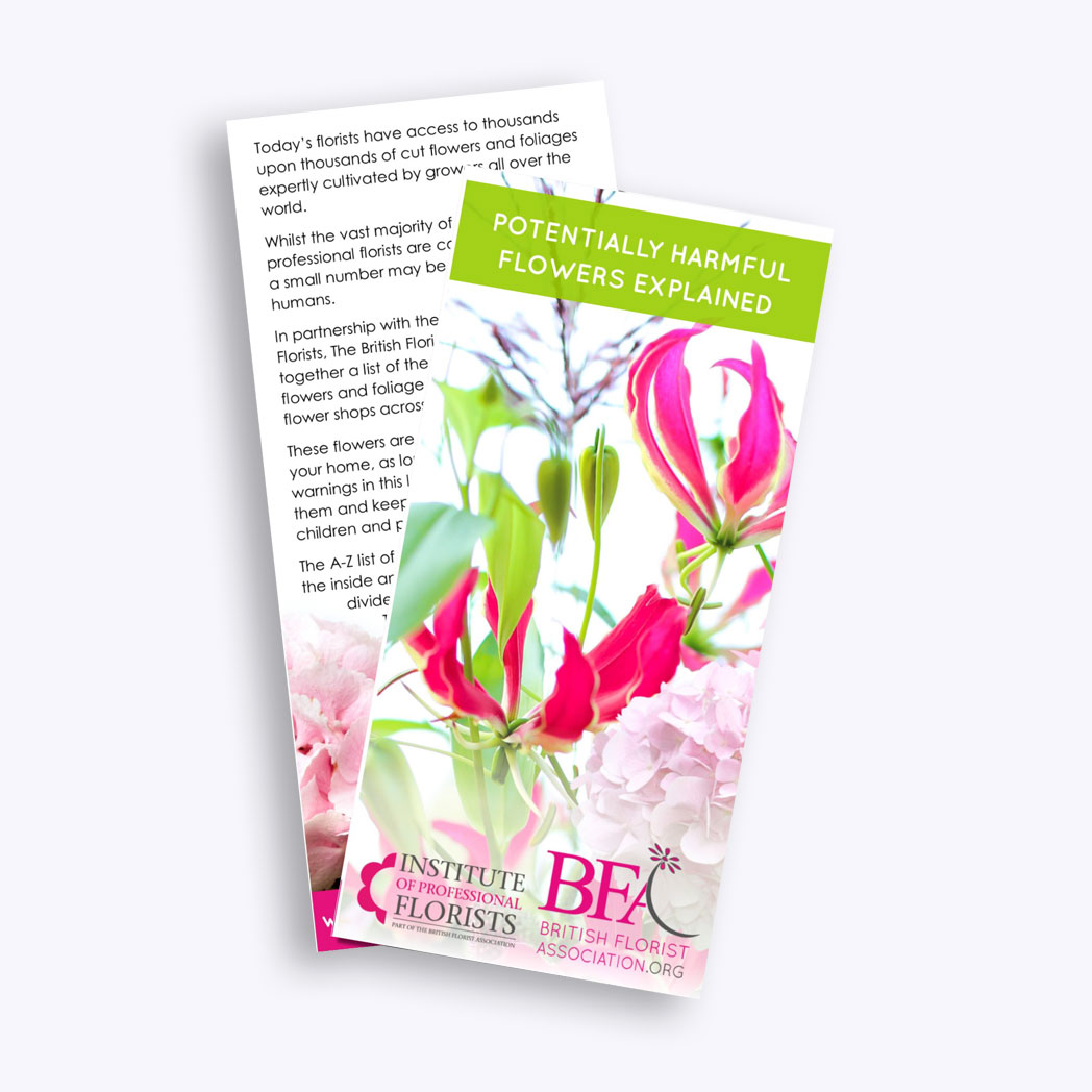 Potentially Harmful Flowers Leaflet (25 Pack)