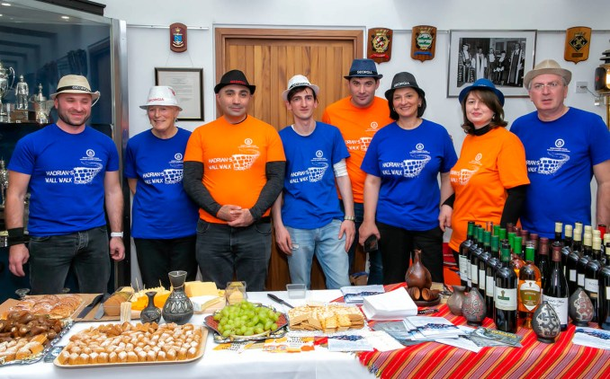 Reception for Hadrian's Wall Charity Walkers in Newcastle, October 2019