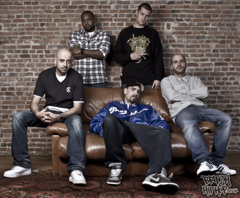 The producers of The Experience Album : Spike Miller, Big Size (Cookin Soul), Zock (Cookin Soul), Eversor & CHI. Picture by Mlle Shu