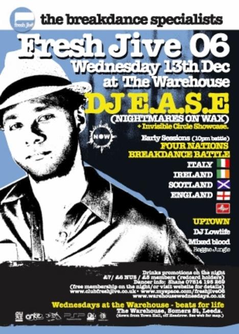 DJ E.A.S.E. @ Fresh Jive - The Breakdance Specialists
