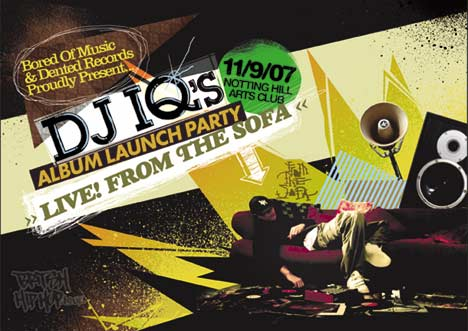 DJ IQ Album Launch Flyer