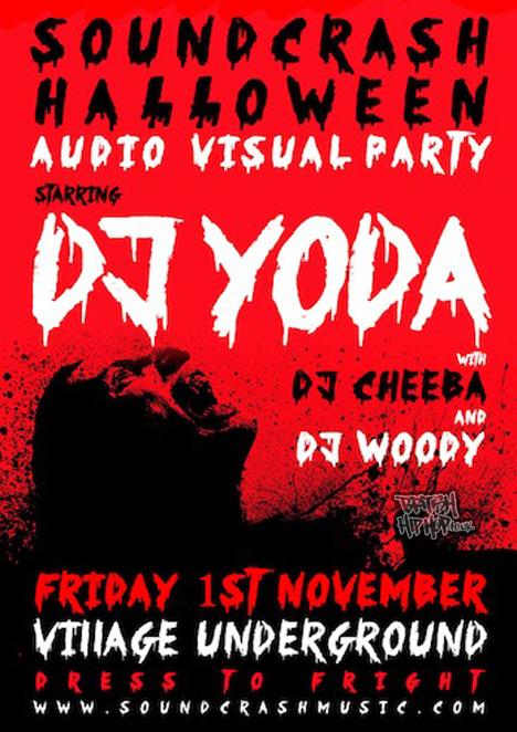 Soundcrash DJ Yoda Halloween AV Party