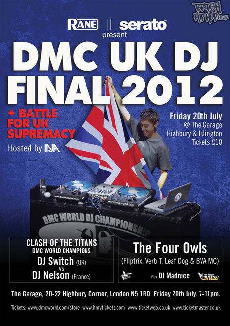 DMC UK DJ Final 2012 - 20th July - The Garage, London