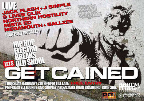 Get Cained - 28th February, PM Bar, Shipley