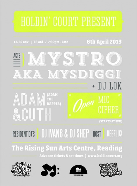 Holdin' Court April 2013 - Mystro, DJ LoK, Adam And Cuth