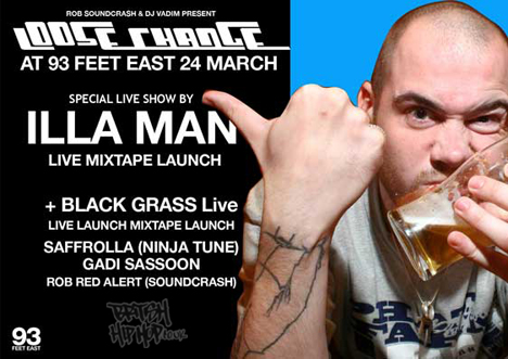 Illa man mixtape featuring Spragga Benz, Hollow Point and Foreign Beggars Launch Party