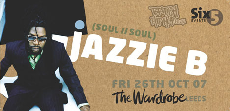 Jazzie B At The Wardrobe This Friday 26th October