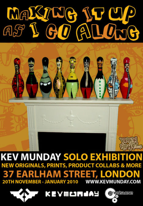 Kev Munday - Making It Up As I Go Along Solo Exhibition