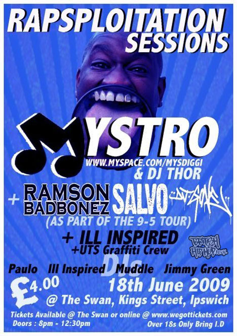 Mystro, Ramson Badbonez, Salvo + DJ Gone At Rapsploitation Sessions