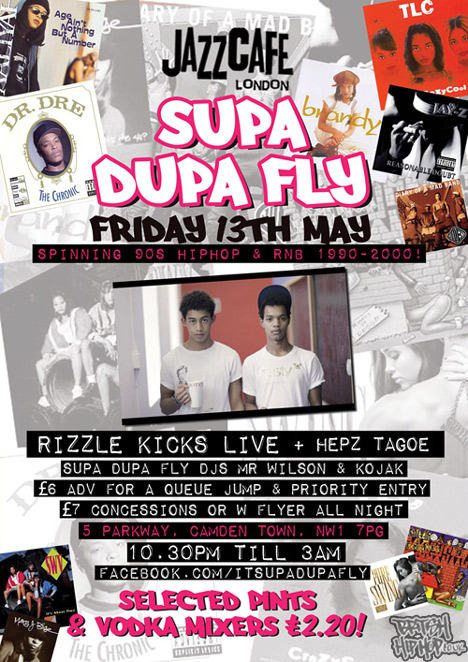 Rizzle Kicks Live at Supa Dupa Fly at Jazz Cafe May 13th