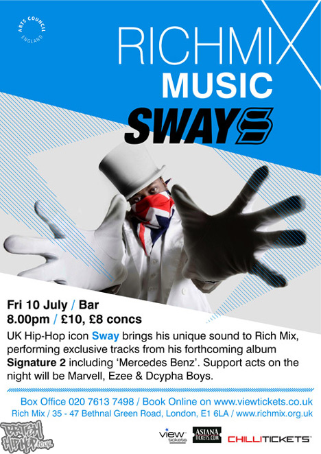 Sway At Rich Mix Performing Tracks From The Signature 2