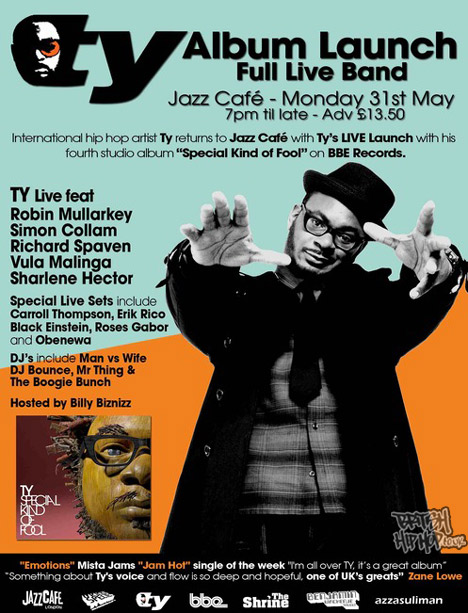 Ty Album Launch At The Jazz Cafe - Bank Holiday Monday