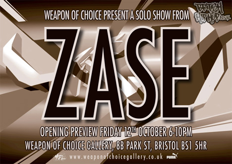 Zase Solo Show At Weapon Of Choice