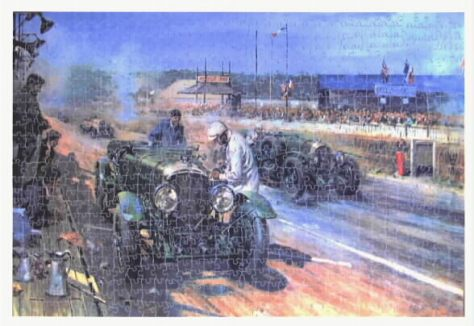 Bentley's at Le Mans-1000 pieces