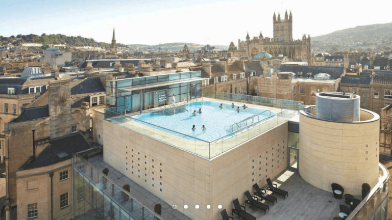 Soak in the natural thermal water at Thermae Bath Spa