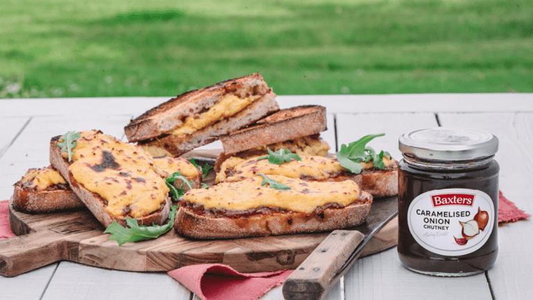 Cheese & Caramelised Onion Toast