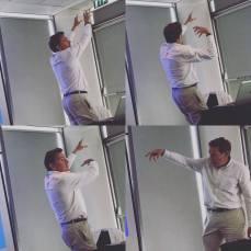 Richard Hobson gets gestural