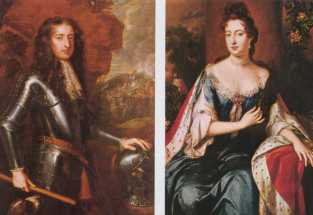 King William III and Queen Mary II
