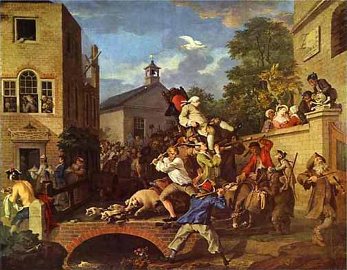 William Hogarth may have been the original Jeremy Kyle. Little comfort in that