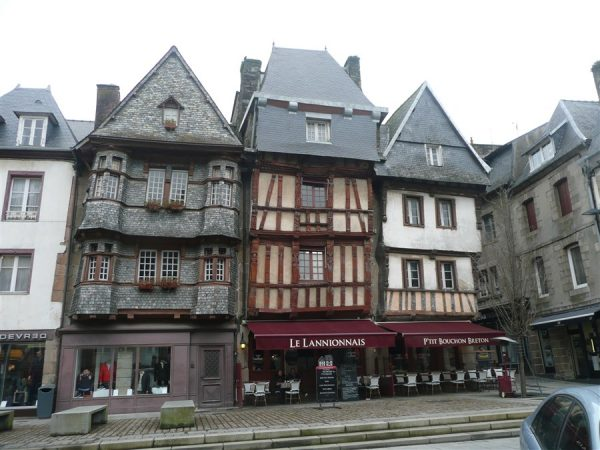Beautiful buildings in Lannion