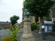Monument outside church in plouaret, Brittany