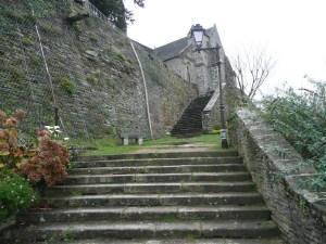 Steps to the church of Brelevenez Lannion