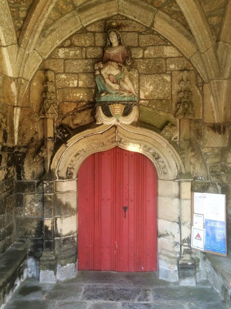 Door to church at Tredrez-Locquemeau