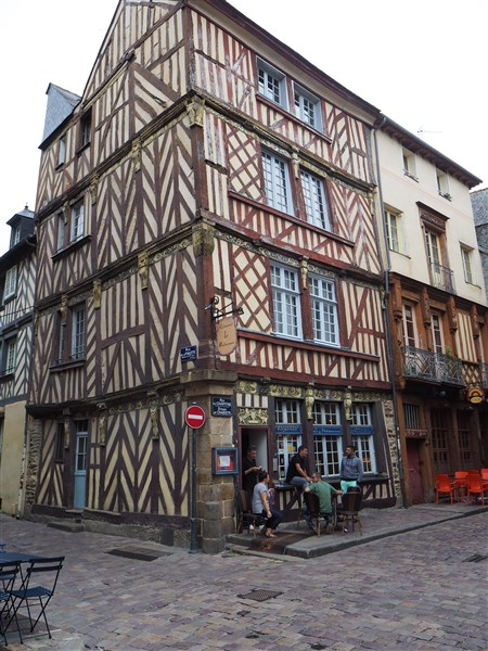 Half-timbered houses, Rennes, Brittany